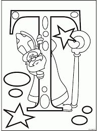 Kleurplaat Letter N Sint Kleurplatennl Kleurplaats Sinterklaas