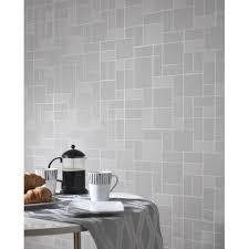 bathroom wallpaper. Holden Décor Tile Pattern Glitter Motif Kitchen Bathroom Vinyl Wallpaper 89243