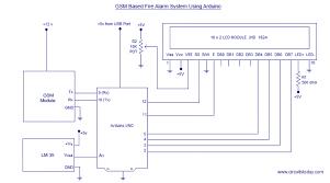 gsm based fire alarm system using arduino intel 8051 pinterest fire alarm circuit working principle at System Of A Fire Alarm Circuit Diagram
