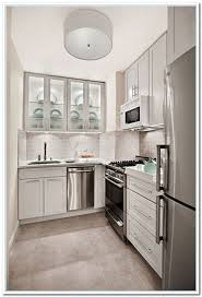 L Shaped Kitchen With Flush Mounted Lighting Remodeling Small L Shaped  Kitchen Check more at http
