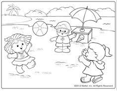 Small Picture Little Girl Building Sand Castle In A Beach Coloring Page Fun