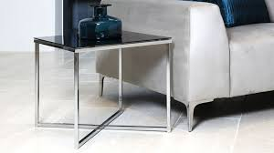small glass side table with chrome frame