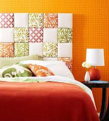 view in gallery diy fabric squares headboard