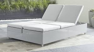 outdoor double lounger bed dune double chaise lounge with sunbrella cushions reviews crate and barrel ana
