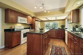 image of kitchen paint colors with cherry cabinets