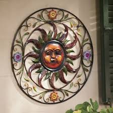 >metal sun wall art outdoor living pinterest metals walls and moon metal sun wall art