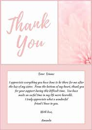 Business Thank You Cards Templates Luxury Bereavement Thank You