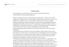 healthy lifestyle gcse health and social care marked by  document image preview