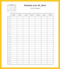 Design Schedule Template Week Time Schedule Template Digitalhustle Co