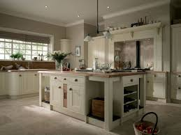 Neutral Kitchen Wooden Lacquered Cabinets Neutral Kitchen Cabinets Gray Cushions