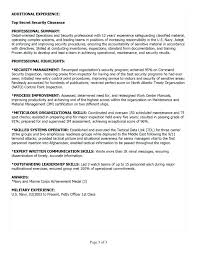 Military Experience On Resume Resume Examples Sample Resumes