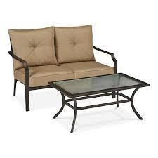 garden treasures vinehaven vinehaven 2 piece steel frame patio conversation set with cushions