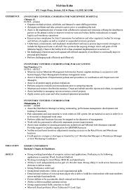 Inventory Control Resume Sample Inventory Control Coordinator Resume Samples Velvet Jobs 7