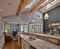 Kitchen With Vaulted Ceilings Vaulted Ceiling Kitchen Lighting 2017 Alfajellycom New House