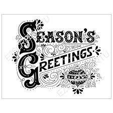 seasons greetings clip art black and white. Beautiful Art DIY Screen Print Stencil Ready To Use Christmas In Seasons Greetings Clip Art Black And White N