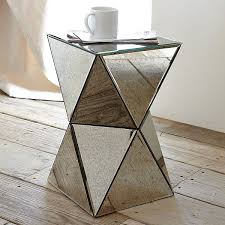 Well Dressed Art Deco Furniture (20 Ideas) : Mirrored Side Table  Y