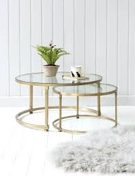 two tier glass coffee table 2
