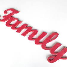 family wood sign wood letters home decor sign pink decor woo