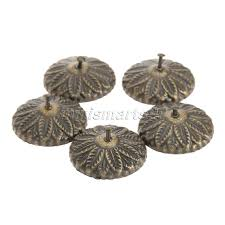 decorative nails for furniture. 50x Decorative Furniture Upholstery Nails Tack Studs Antique Bronze Carved Drum Wooden Jewelry Box Bag For F