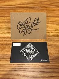 onyx coffee lab gift card script onyx coffee logo typography