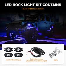 Bright Rock Lights Details About 4x Blue Off Road Led Rock Light For Jeep Atv Boat Truck Under Body Glow Bright