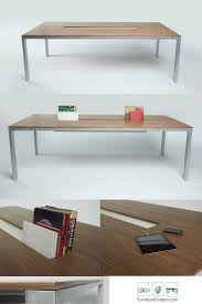 office tables designs. Modern Walnut Conference Table. Creative Trough For Power, Books, Flowers, Etc. Office Tables Designs G