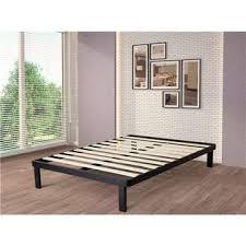 intelliBASE Wood Slat Metal Bed Frame, Queen