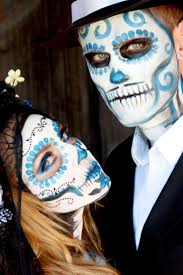 couple day of the dead makeup