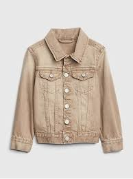 Icon Khaki Denim Jacket Toddler Boys Outerwear | Gap