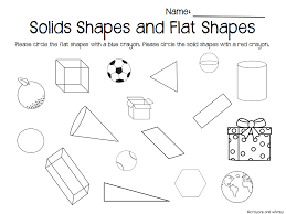 flat and solid shapes kindergarten math geometry | comparing 2d and ...