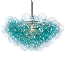eco friendly blue glass chandelier and ceiling chandelier
