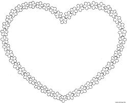 Coloriage Coeur Avec Fleurs L L L L