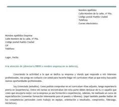 Carta De Presentacion Modelo Modelo De Carta De Autocandidatura Modelo Curriculum