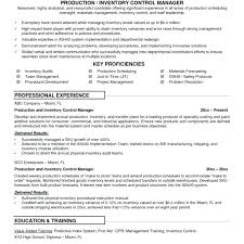 Supply Chain Cover Letter Resume Inventory Resume Sample