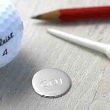silver golf ball marker