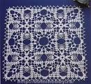 Вязание ажурный квадратов