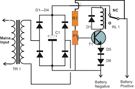 wiring diagram 12v auto on off battery charging circuit diagram design a dodge charger at Battery Charger Wiring Design