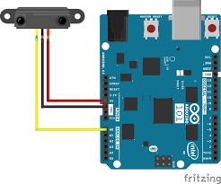 sharp ir sensor. interfacing a sharp ir range sensor to arduino 101 ir y