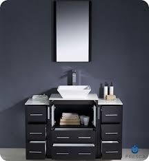 fresca torino single 48 inch espresso modern bathroom vanity with vessel sink