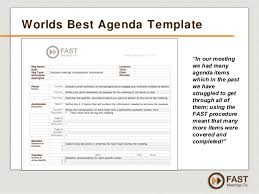 Sample Agenda Calendar New Driving Results With Effective Meetings By FAST Meetings Co FREE