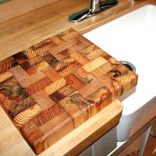 end grain butcher block reclaimed wood cutting by wooden chopping board
