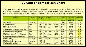 Ballistics Chart For 308 Winchester 150 Gr Bullet