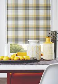 roller blinds in highland ochre pattern