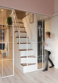 sliding glass doors used to delineate space without stopping passage of light