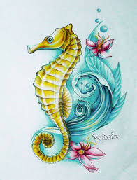 Small Picture 25 best Seahorse drawing ideas on Pinterest Simple animal