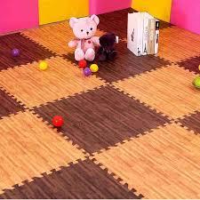 8pcs 30x30cm eva foam floor carpet mat wood grain ground kitchen mat wood like cushion