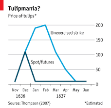 Tulip Mania Chart Comments On Economic History Was Tulipmania Irrational