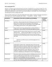 moral compass essay wk phi critical thinking wilmington 2 pages overcoming barriers wk1 1