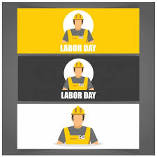 Labor Day Free Online Flat Labor Day Banners Vector Free Download