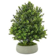 home depot fake plants indoor outdoor boxwood artificial plant in stone planter n canada pl